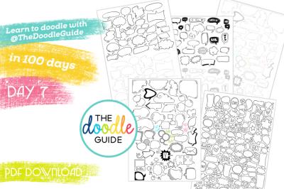 Doodle Sheets - Thought/Speech Bubbles (007/100)