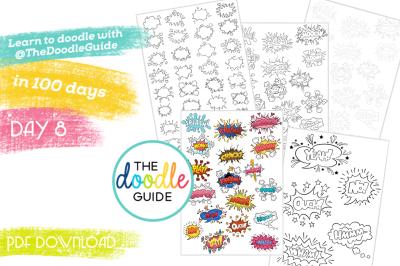 Doodle Sheets - Comic bubbles (008/100)