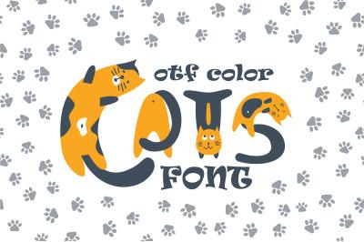 Cats cute OTF color font