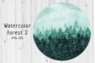 Watercolor forest 2