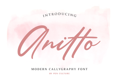 Anitto - Modern Calligraphy Font
