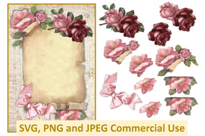 Collage Decoupage Sheet Commercial use