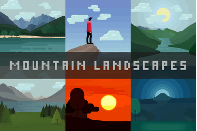 Mountain Landscapes - Vector Illustrations