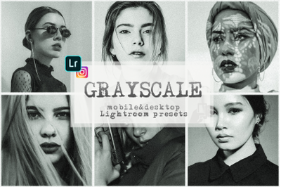 Grayscale presets lightroom mobile monochrome