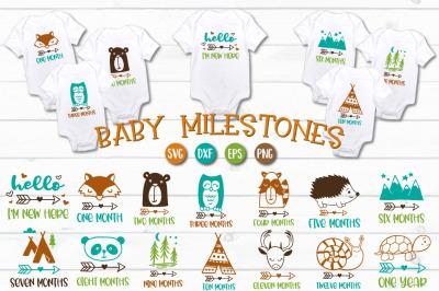 Baby Milestones - SVG, PNG, EPS, DXF