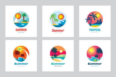 Summer Travel Vacation - Logo Set