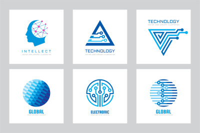 Electronic Technology Logo Set