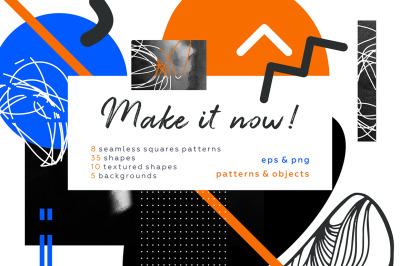 Make it! Geometric collage set.