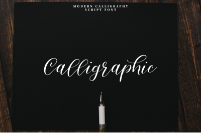 Calligraphic///Modern calligraphy font