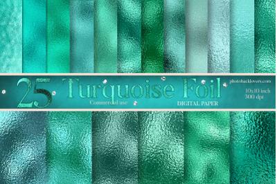 Turquoise foil digital paper