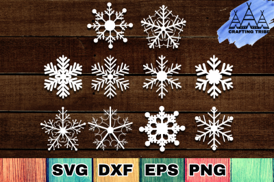 Snowflakes SVG Cut Files Pack
