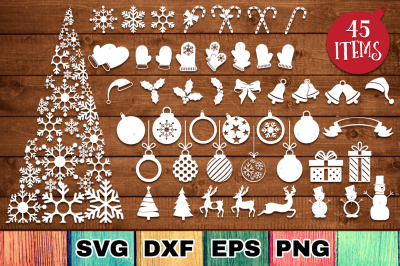 The Christmas SVG Bundle with 45 Cut Files