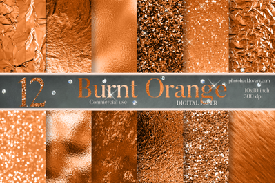 Burnt Orange digital paper