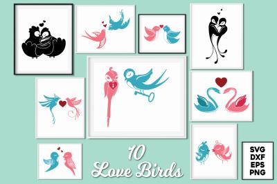 Love Birds SVG Cut Files Pack
