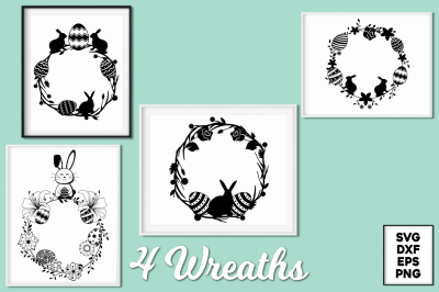 Easter Wreaths SVG Cut Files Pack