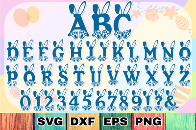 Bunny Hop - Cute Easter Alphabet with A-Z Letters & Numbers