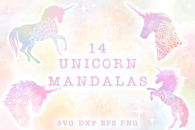 Unicorn Mandala SVG Cut Files Pack