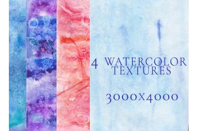 4 watercolor textures