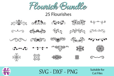 Flourish Bundle - SVG DXF PNG - For Crafters