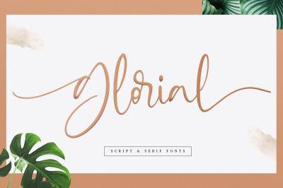 Glorial Font Duo | Script and Serif