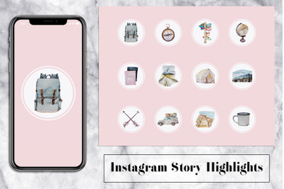 Hike Instagram Story Icons