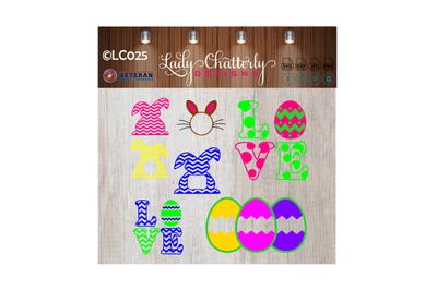 LC025 - Easter Monogram Frame Designs