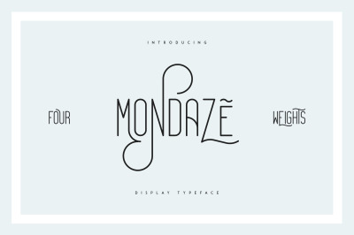 Mondaze Typeface - 4 Weights