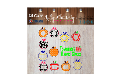 LC026 - Teachers Have Class - Monogrammed Apples