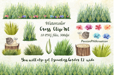 watercolor grass clipart