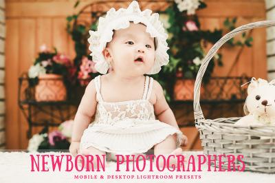Newborn Photographers Mobile and Desktop Lightroom Presets