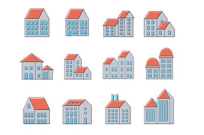 Linear urban buildings