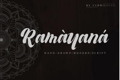 Ramayana Hand Drawn Modern Script