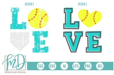 Softball Love SVG