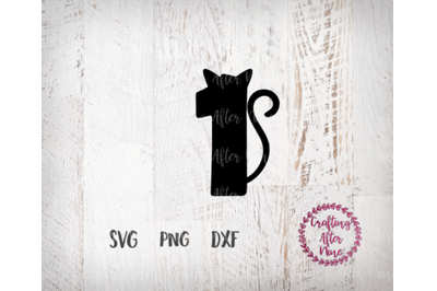 Cat Birthday Svg, Cat Svg, One Svg, First Birthday