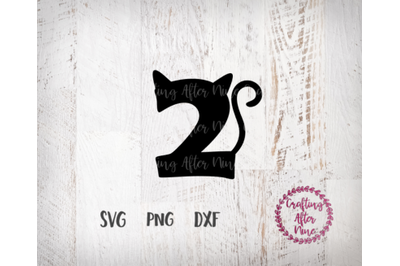 Cat Birthday Number Two SVG, 2nd Birthday, I am Two