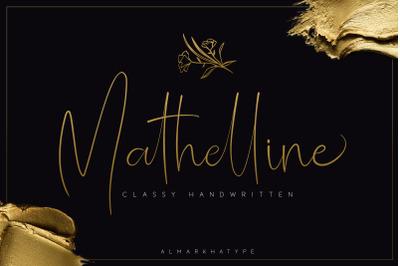 Mathelline - Classy Handwritten + extra