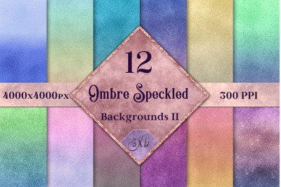 Ombre Speckled Backgrounds Vol 2 - 12 Image Textures