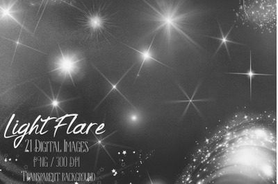 21 Glowing Light Flare Overlay Digital Images PNG Transparent