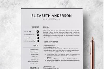Professional Resume Template / Creative CV Templates - Elizabeth