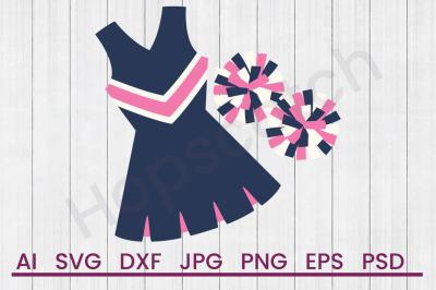 Cheerleader Uniform - SVG File,DXF File