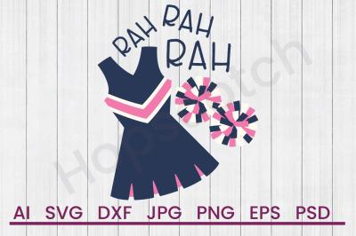 Cheerleader Rah - SVG File, DXF File