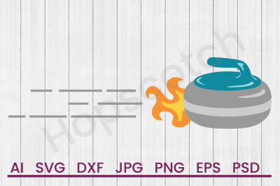 Flaming Stone - SVG File, DXF File