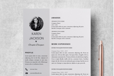 Modern Resume Template for Pages / Creative Resume Design - Karen