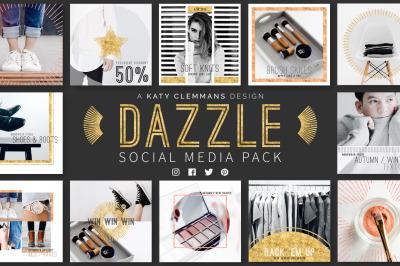 Dazzle Social Media Template Pack