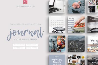 Journal Social Media template pack