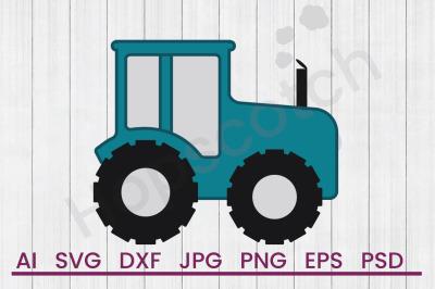 Farm Tractor - SVG File, DXF File