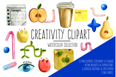 Creative Thinking Watercolor Clipart
