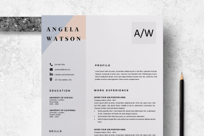 Professional CV Template Word / Professional CV Design - Angela