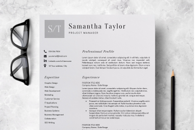 Basic CV Template Word / Resume Template for Teachers - Samantha
