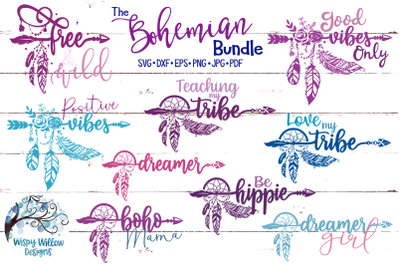 The Bohemian SVG Bundle | Good Vibes Only | Love My Tribe